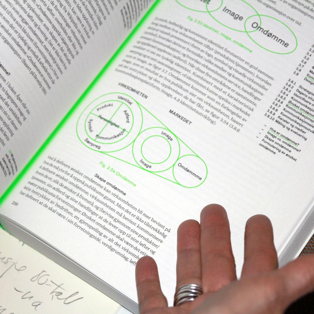 Fra personlighet til omdømme - er en av bokens mer enn 100 nyttige modeller. Foto: Sidsel Lie.
